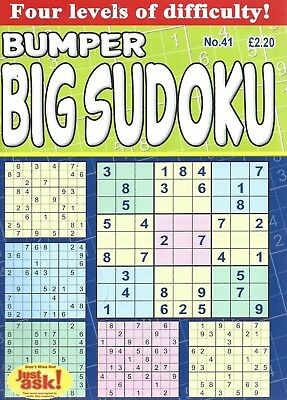 Sudoku Bumper Books 88 Large Print Puzzles In Each 4 Levels Of Difficulty No 41