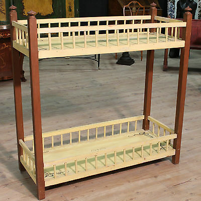 Furniture wooden painting etagere planter antique style 900 blossom decorations