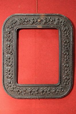 antique wood frame chalk carved 800 XIX mirror painting antique