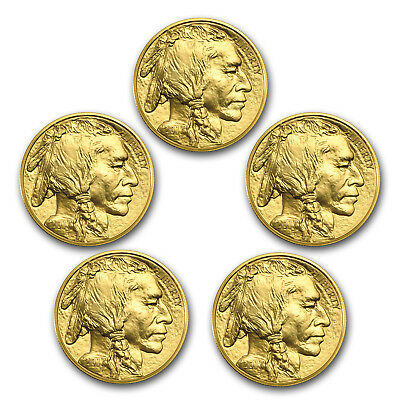 Bank Wire Payment. 2017 1 oz Gold Buffalo BU (Lot of 5)