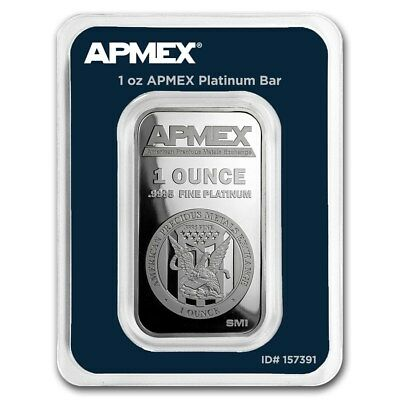 1 oz Platinum Bar - APMEX (In TEP Package) - SKU #166424