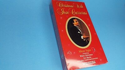 New Sealed Jose Carreras  Christmas with Jose Carreras VHS tape, 1995 Ave Maria