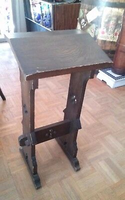 Antique Vintage Oak Gothic Revival Bible Or Book Stand