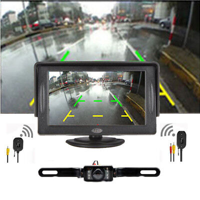 "Car Truck Back up Rear View Camera Night Vision+Wired 4.3"" TFT LCD Monitor Kit"