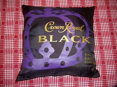 "Crown Royal Black Pillow~  THE CROWN LIFE  12"" x 12"" , new"