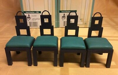 Dollhouse Miniatures 4 Chairs - Take a Seat by Raine #24021 Willitts Designs NIB