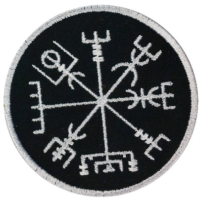 vegvisir viking compass glow dark GITD tactical morale toppa sew iron on patch