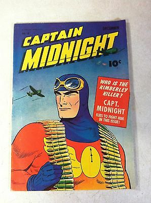 Captain Midnight #15 Flies To Fight, Fawcett, 1943, Legion Of The Lost!!