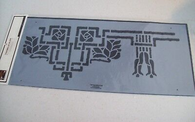 "Trimbelle River Wall Stencil Craftsman Style 8.5"" X 19.5"" Arts And Crafts Decor"