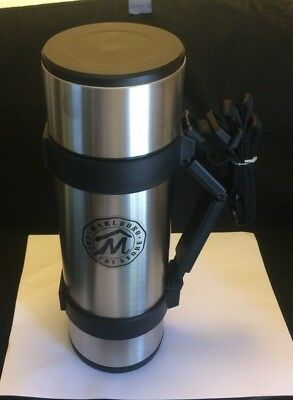 NEW Thermos Marlboro Country Store Stainless Steel Vacuum Bottle 1 Liter + Strap
