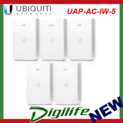 Ubiquiti Networks UAP-AC-IW-5 In-Wall 802.11ac Wireless Access Point - 5 Pack