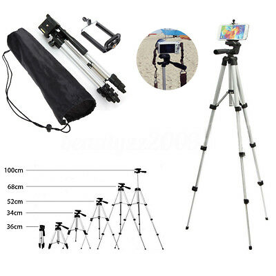 Professional Camera Tripod Stand Mount + Holder Carrying Bag for Cell Phone