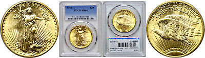 1914 $20 Gold Coin PCGS MS-64