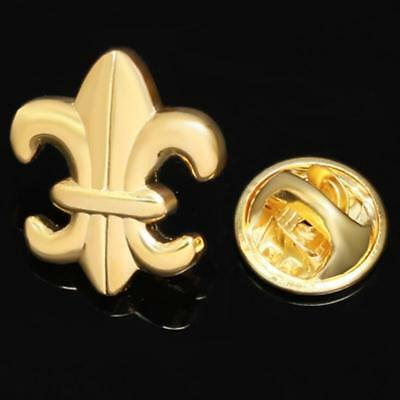 Fleur De Lys Logo Gold Plated Lapel Pin Badge Hat / Tie Tack Pin Brooch Gift Box
