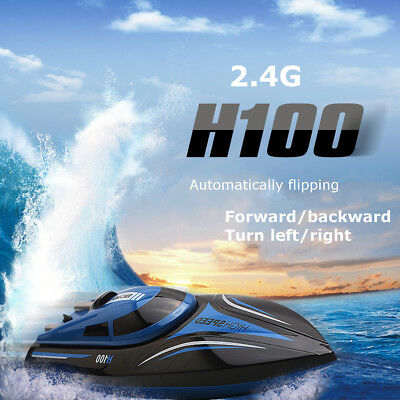 Electric H100 2.4GHz 4CH Water Cooling 180° Flip High Speed RC Racing Boat Toy