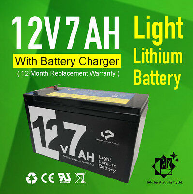 New 12V 7Ah Lithium-ion Rechargeable Battery w/ Charger 4 LED Strip Fish Finder