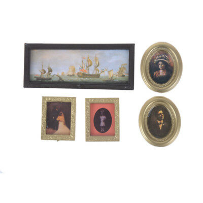 1:12 Dollhouse Miniature Vintage Painting Mural Wall Picture furniture decor FT