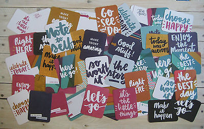 """'wander' Project Life Cards By Becky Higgins - 3"""" X 4"""" - 50 Cards"""