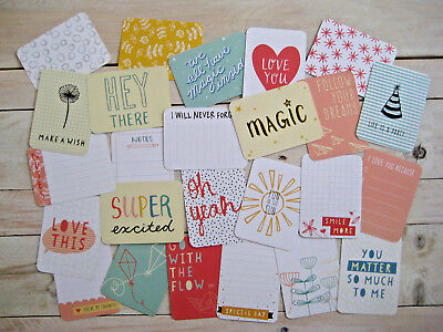 "'doodle' Edition Project Life Cards By Becky Higgins - 3"" X 4"" - 25 Cards"