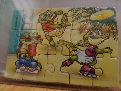 Crazy Crocos, Puzzle, D 1993, Ecke unten links, 100 % Original Ferrero