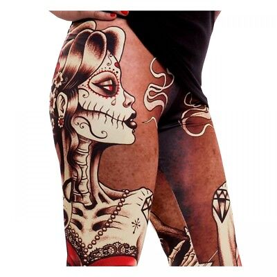 Heartless Smoke Leggings Leggins Hose Röhre Tattoo Ink Gothic #3129 148
