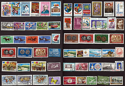 123T1 ROMANIA 59 stamps obliterated figures various