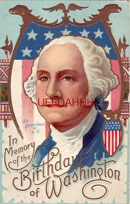 IN MEMORY OF THE BIRTHDAY OF WASHINGTON 1911 embossed