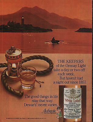 1981 Dewars White Label The Keepers Of The Ornsay Light Take A Day Or 2 Ad