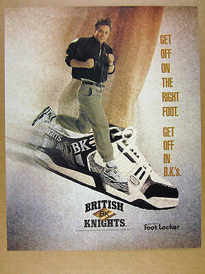 1990 BK British Knights shoes 'get off in B.K.'s' vintage print Ad