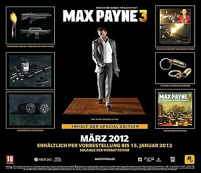 PS3 Game Max Payne 3 - Limited Special Collectors Edition NEW