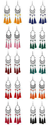 Jwellmart Indian Afghani Style Oxidized Silver Thread Fashion Earrings Free Ship