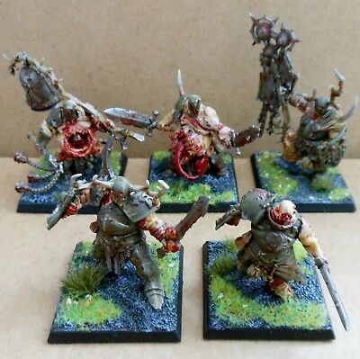 2013 Chaos Nurgle Putrid Blightkings Citadel Pro Painted Warhammer Blightlord GW