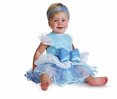 NEW Disguise Baby Girls Disney Cinderella Prestige Halloween Costume 12-18 Month