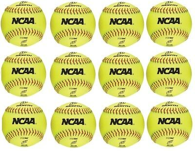 "New Worth NCAA 12 count 12"" training/practice softballs softball dozen NC12S"