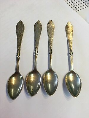 Christian F. Heise Danish Hand Hammered Silver (826) Spoon : No Monograms