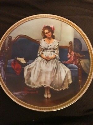 """1993 Norman Rockwell Decorative Plate """"Waiting at the Dance"""""""