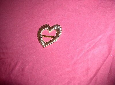Gold Plastic Heart T-Shirt Clips from the 1980's by Wang International