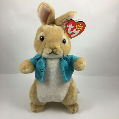 "TY Beanie Baby 8"" COTTONTAIL Animal Plush MWMT's (Peter Rabbit Movie) 2018 New!"