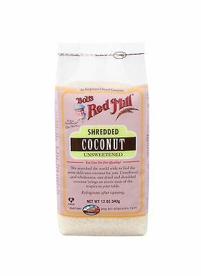 Bob's Red Mill Shredded Coconut, Unsweetened, 12 oz 12 Ounce