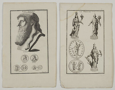 """Lot of 17 Antique 18th Century French Copper Engravings 17x10"""" Many Subjects"""