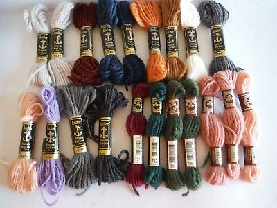 Embroidery Tapestry Wool DMC Anchor Mixed colour x 20 Skeins new
