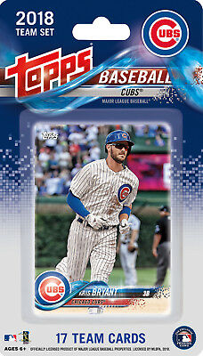 Chicago Cubs 2018 Topps Baseball Factory Sealed Team Set Bryant Schwarber Rizzo