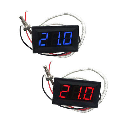 2pcs (Rot/Blau) LED DC 12V Auto KFZ Thermometer Panel-Meter -30 bis +800 ℃