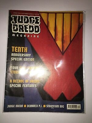 Judge Dredd Megazine, Issue 70 (October 2000) - Tenth Anniversary Magazine/Comic