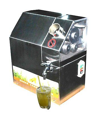 110V Automatic Commercial Sugarcane Juicer Sugar Cane Grind Press Machine Steel