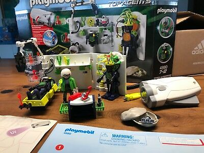 Playmobil 4880 Top Agents - Robo Gangster Labor mit Multifunktionstaschenlampe