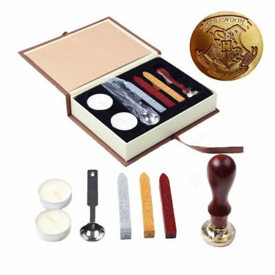 Harry Potter Hogwarts School Badge Wax Seal Stamp w/Wax Set New
