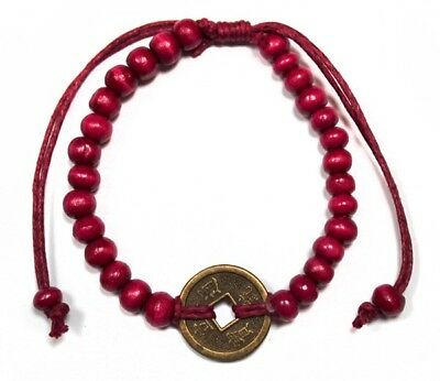 Bali Good Luck Feng Shui Bracelet - Red