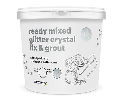 Hemway Glitter Grout & Fix Ready Mixed 4.5KG (White Grout / Silver Holographic)