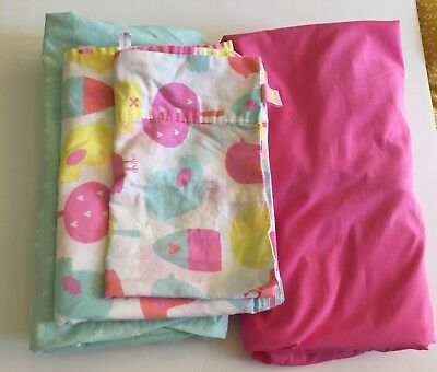 Circo Girl Pink Fitted Crib Sheet Girl and Complete Crib Bird Set. GUC